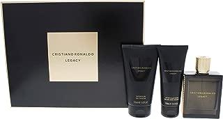 Cristiano Ronaldo Legacy By Cristiano Ronaldo for Men - 3 Pc Gift Set, 3.4 Oz