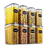 Cereal & Dry Food Storage Containers - Wildone Airtight Cereal Storage Containers Set of 8 [2.5L /...