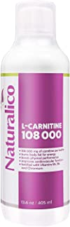 Naturalico L-Carnitine 4.000mg | with Vitamin B5. B6 and Chromium | Burns Body Fat for Energy | Improves Cardiovascular Function | USA Made | GMO Free | Fast Absorbable | 405ml for 27 Servings