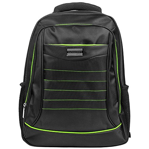 Laptop Backpack Student Shoulder Bag (Green) for Wacom Cintiq 15.6 to 17.3 inch