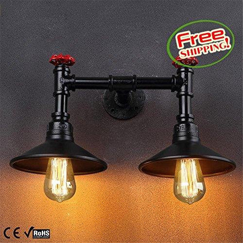 NIHE Lampe de plafond à miroir à double plafonnier vintage européen double lampe murale personnalisée