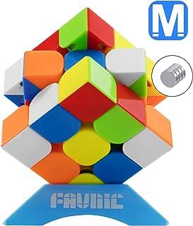 FAVNIC 魔方 マジックキューブ ステッカーレス 立体パズル 競技用3x3x3 プロ向け 達人向け 中級者向け 世界基準配色 ポップ防止 (標準磁力版)