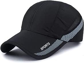 Oulm Black Sports Cap for Men & Boys - (CP-12)