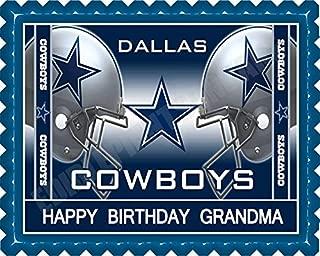 Dallas Cowboys (Nr2) - Edible Cake Topper - 7.5