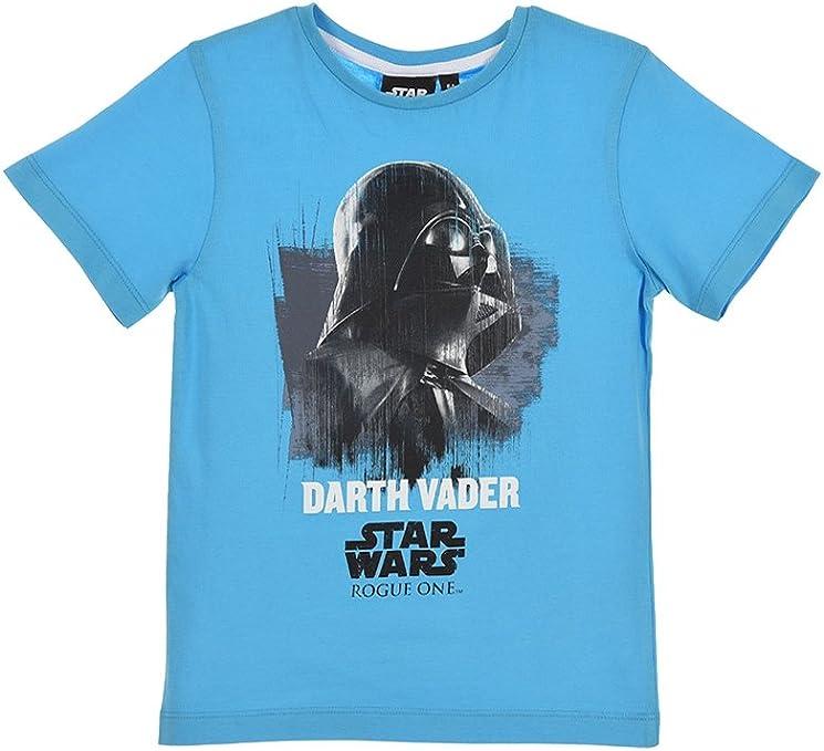 Star Wars - Camiseta de manga corta de algodón para niño ...
