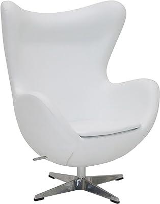 Poltrona Uovo Jacobsen.Famous Design Poltrona Egg Arne Jacobsen Rosso Amazon It