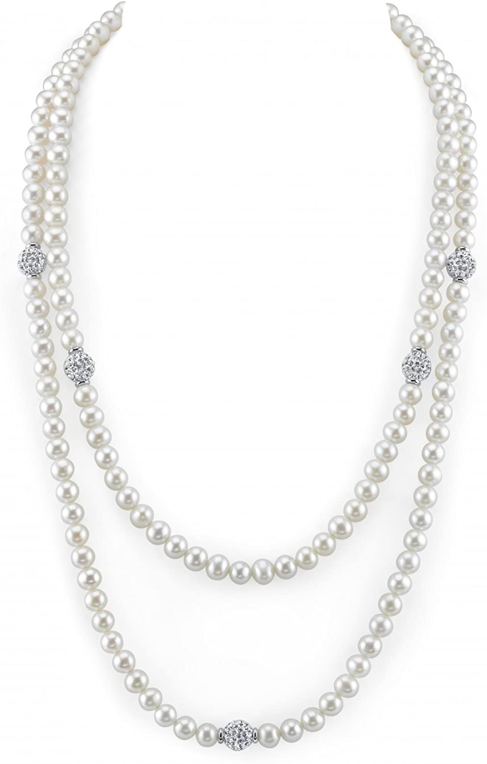 Many popular brands THE PEARL SOURCE 6-7mm Genuine Cultured Pearl Freshwater Sales White