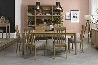 Everhome Designs - Austin 7 Piece Oak Extension Dining Table Set