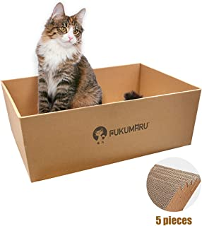 FUKUMARU Cat Scratcher Cardboard,Cats Scratching Pads Pet Lounge Box House