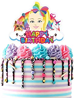 Jojo Cake Topper Cupcake Toppers Birthday Unicorn Party Decoration for Children, 1 count