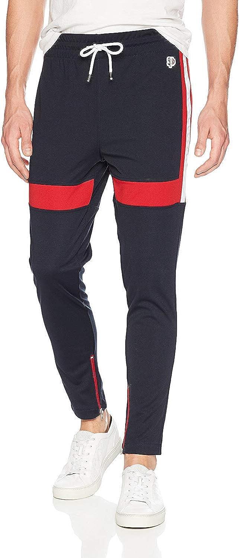 Southpole Men's Athletic Skinny Track Pants Open Bottom