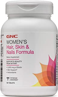 GNC Womens Hair, Skin Nails Formula, 120 Caplets, Supports Beauty from Within