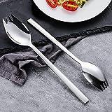 Dylan-EU 304 Edelstahl Spork Göffel 6 Stück Buffetgabel-Set 20.5 cm Salatgabel Multifunktion Löffel und Gabel für Küche Restaurant Hotel Schulkantine - Tischdekoration - 3