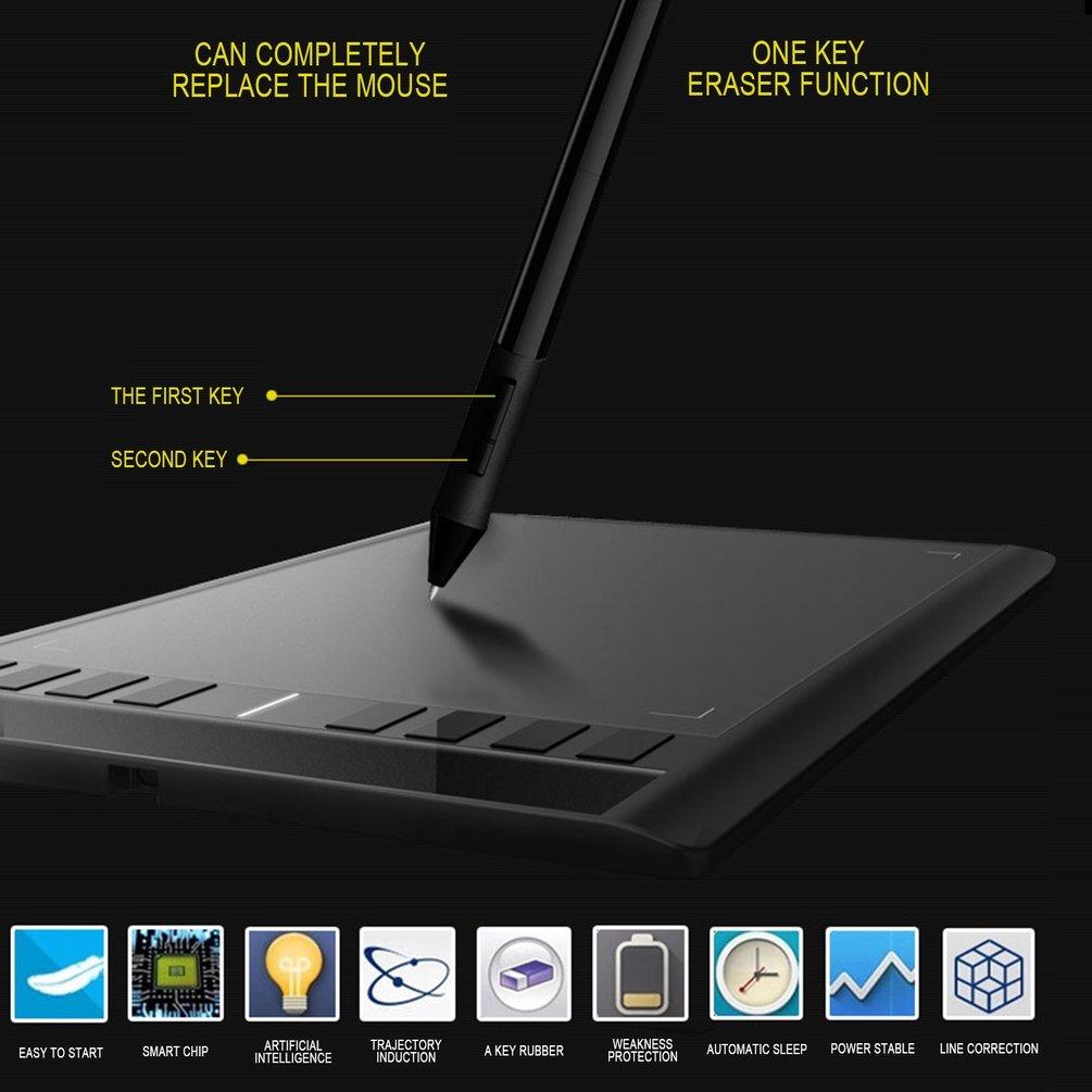 Gugutogo - Pantalla digital inteligente de dibujo electrónico para ordenador M708: Amazon.es: Informática
