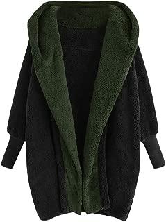 JMETRIE Women's Warm Fuzzy Fleece Coat Faux Shearling Jacket Autumn Loose Lapel Fluffy Outwear