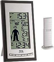 TFA Dostmann Weather Boy 35.1084 Draadloos weerstation, zwart, weersvoorspelling met symbolen, aanbevolen kleding en binne...