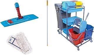 Aviva esila Master Lavado carro carrito de limpieza (2x 20l Cubo Prensa–Limpiador Juego   Maxxi4you Juego  