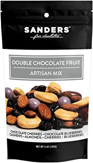 Sanders Artisan Mix Double Chocolate Fruit Gourmet Trail Mix, Super Premium Chocolate Covered Dried Fruit and Nuts Snack, ...