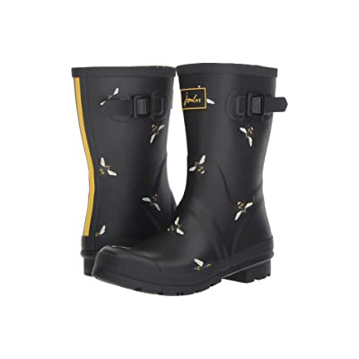Joules Mid Molly Welly (Black Botanical Bees) Women