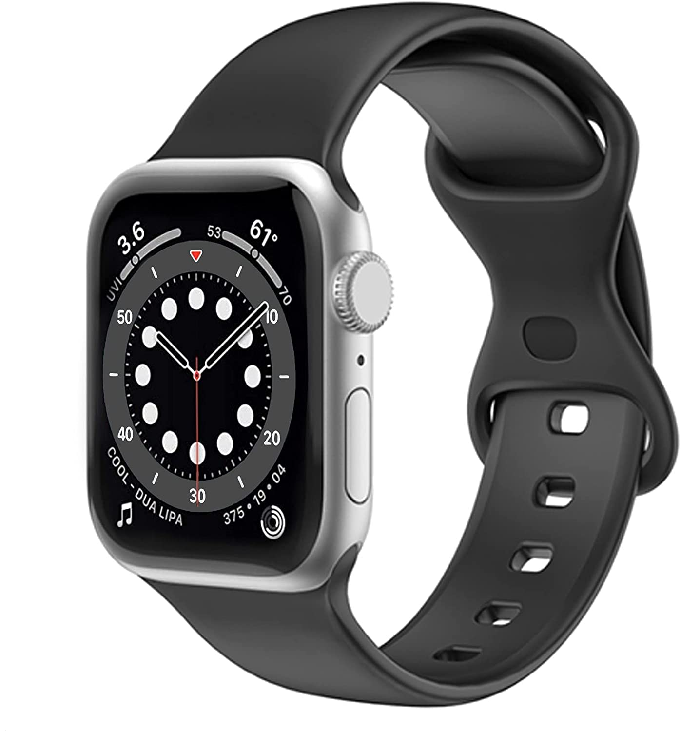 Victadio Band Compatible with Apple Watch Band, Soft Silicone Band for iWatch