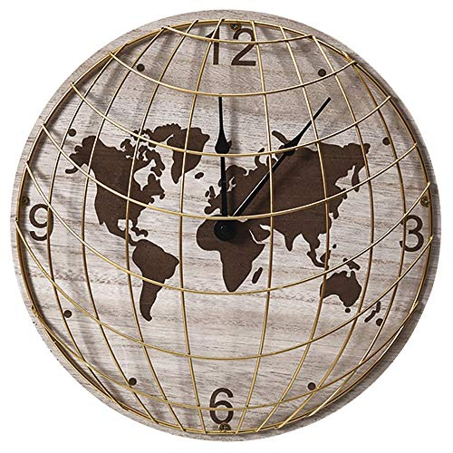 TOOGOO Decoration pour La Maison Horloge Murale Style De Sport Horloge Murale en Bois Salon Chambre A Coucher Chambre des Enfants Horloge De Base-Ball