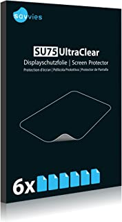 Bedifol 6X Savvies Ultra-Clear Screen Protector for Smok Species, accurately Fitting - Simple Assembly - Residue-Free Removal