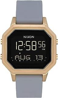 NIXON Siren SS A1212 - Light Gold/Gray - 101M Water Resistant Women's Digital Sport Watch (36mm Watch Face 18mm-16mm Stainless Steel Band)