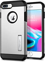 Spigen Tough Armor [2nd Generation] Designed for Apple iPhone 8 Plus Case (2017) / Designed for iPhone 7 Plus Case (2016) - Satin Silver