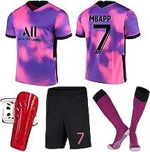 Voetbalshirt Set Voetbal Shorts Pak # 7 Mbappé Jersey Away Game Wk Voetbal Sneldrogend Korte Mouwen Ademend game T-shirt