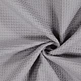 Fabulous Fabrics Waffelpiqué – grau — Meterware ab