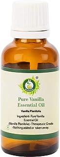 R V Essential ピュアバニラエッセンシャルオイル30ml (1.01oz)- Vanilla Planifolia (100%純粋&天然) Pure Vanilla Essential Oil