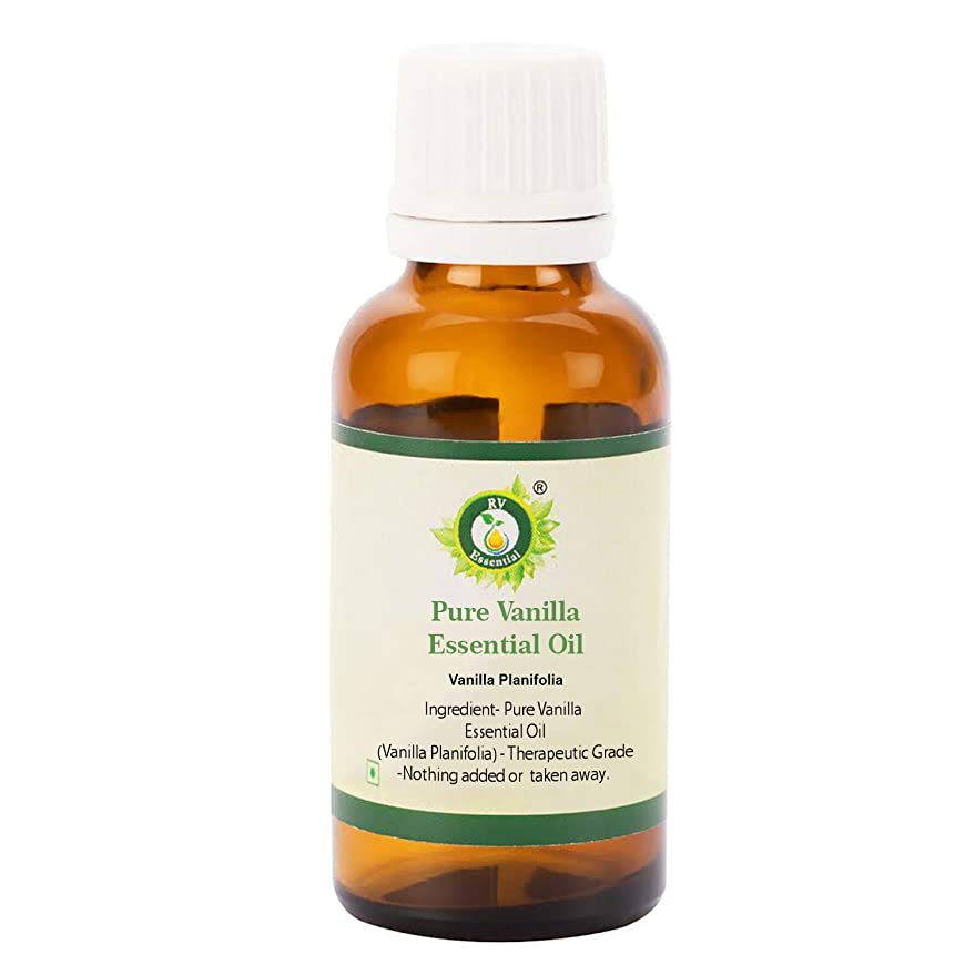 部分的架空の刃R V Essential ピュアバニラエッセンシャルオイル50ml (1.69oz)- Vanilla Planifolia (100%純粋&天然) Pure Vanilla Essential Oil