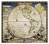 HJHJHJ Rompecabezas 6000 Piezas para Adultos Hemisferio Occidental Mapa del Mundo difícil y desafío Rompecabezas 180x106cm