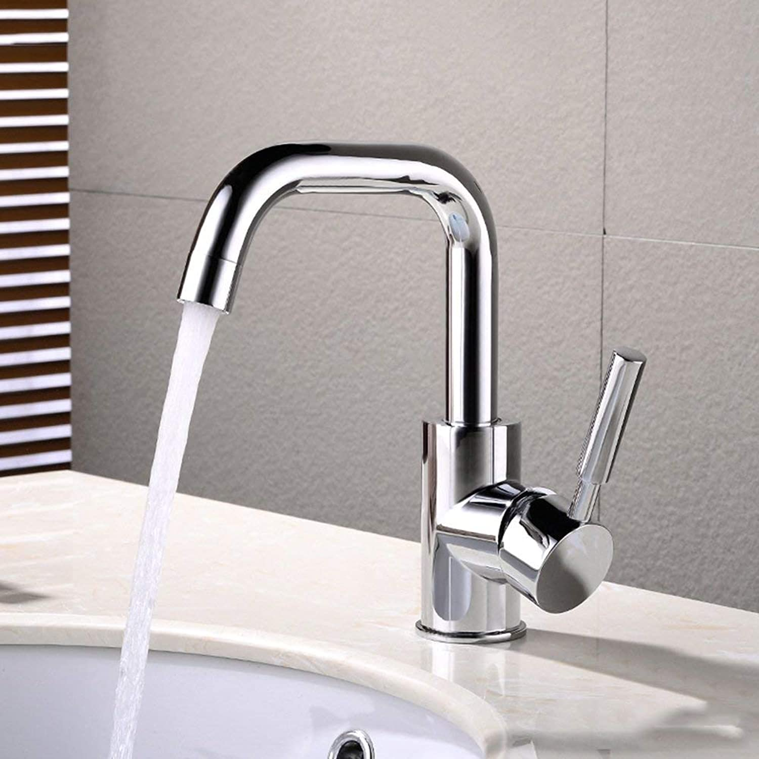 DYR Faucet European Style redating Basin Wash Your Face Hot and Cold Faucet Basin Bathroom Bathroom on the Basin Faucet Extend the Copper (Size  B)
