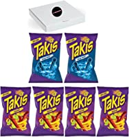 Takis Blue Heat 113g & Takis Fuego 55g ( Mix Pack of 6) Candyland sweets