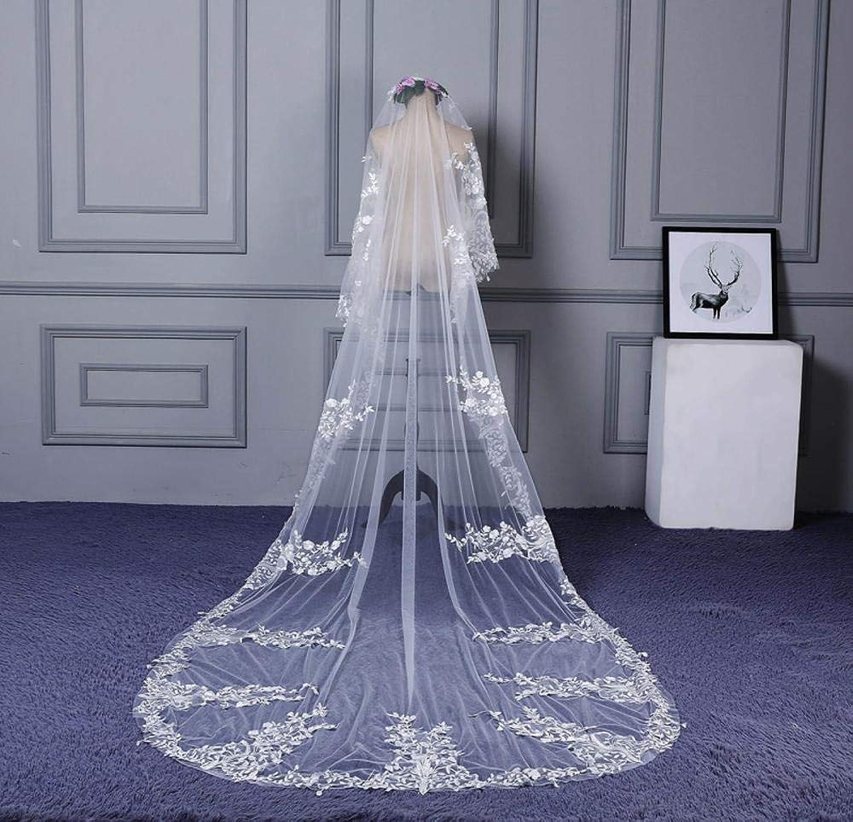 deportes calientes Gquan Velo de novia,Cabeza grande de novia vestido hilado Super Super Super largo cola larga velo  60% de descuento