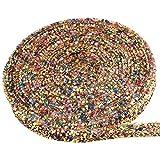 Demine rollo de cinta de diamantes,cintas de adorno para manualidades de bricolaje vestido pulsera zapatos bolsas decoración de bodas fiesta(177 * 0,59 pulgadas,mezcla de colores)
