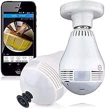 Lampada Camera espiã Ip Led Wifi Hd Panorâmica 360º