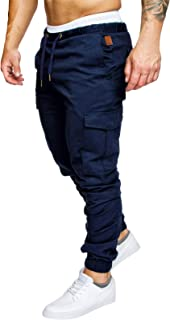 Men's Cargo Pants Slim Fit Casual Jogger Pant Chino Trousers Sweatpants