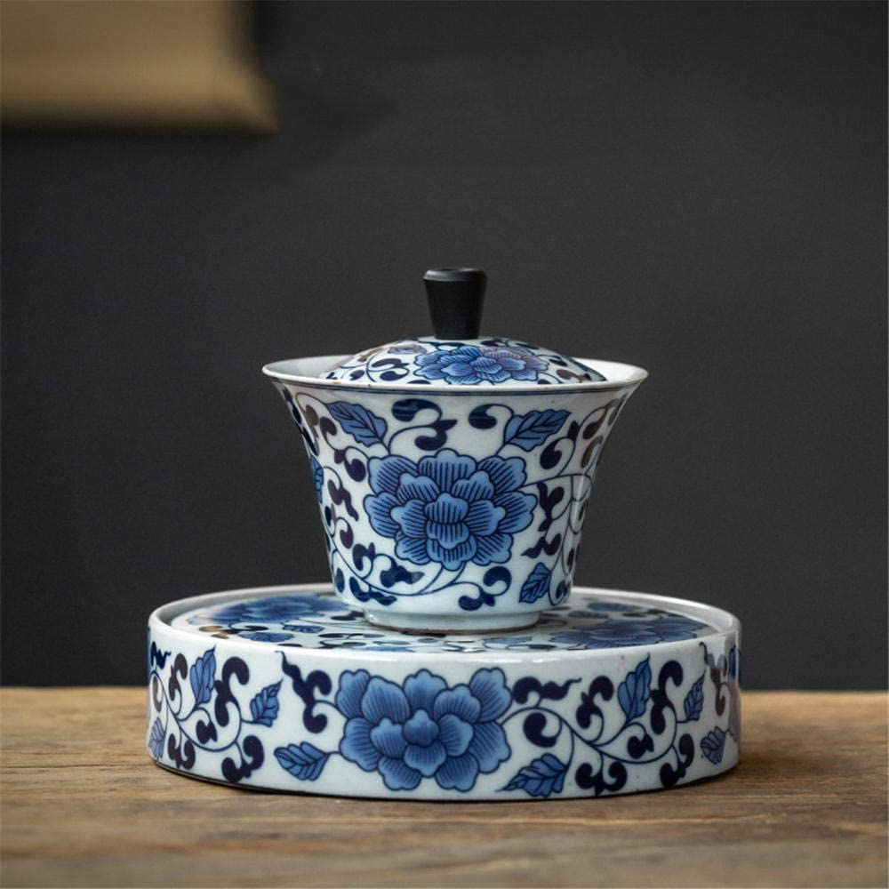 Traditional Chinese ceramic New York Mall teacup Popular Kungfu bi and flower