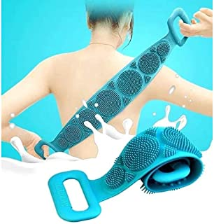 Misaki Silicone Body Back Scrubber, Double Side Bathing Brush for Skin Deep Cleaning Massage, Dead Skin Removal Exfoliatin...