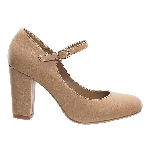 8b21d281ac6 City Classified Women s Closed Toe Ankle Strap Block Heel