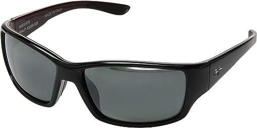 Shiny Black/Grey/Maroon/Neutral Grey