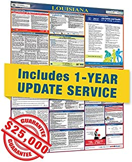 2019 Louisiana All in One Labor Law Posters with 1 Yr E Update Service