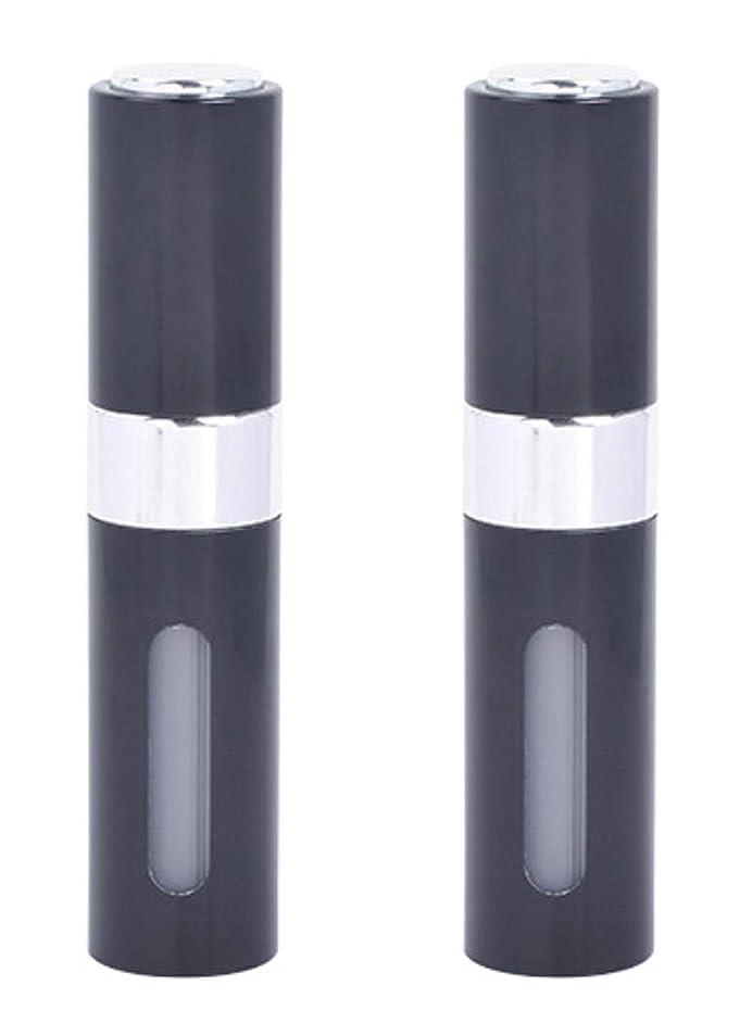 事業ランプアリスアクアミー ワンタッチ 補充 アトマイザー クイック 詰め替え 携帯 香水 スプレー 8ml (2個組, ブラック)