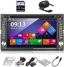 2 Din Car Stereo In Dash Deck Head Unit GPS Navigation Autoradio Video Head Unit SAT NAV DVD Player DVD/CD/MP3/MP4/USB/SD/AM/FM/RDS Radio/Bluetooth/Audio system Rear Camera