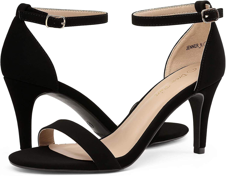 DREAM PAIRS Womens Jenner Stilettos Open Toe Pumps Low Heeled Sandals