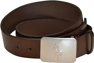 Brown Belt Pony Logo Plaque Buckle