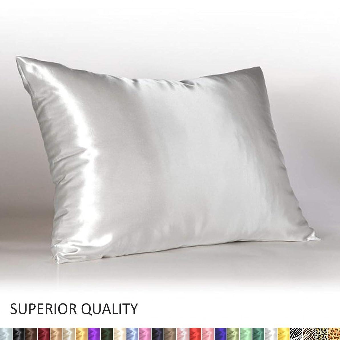 Shop Bedding Luxury Satin Pillowcase for Hair – Standard Satin Pillowcase with Zipper, White (1 per Pack) – Blissford