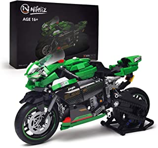 Nifeliz 2X-25R Motorcycle Building Kit (1006 Pieces)
